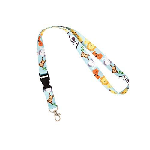 (Zoo Animals Lanyard for Badge ID Card Keys Keychain Souvenir Holder Nurse Doctor Teacher Office (Design)