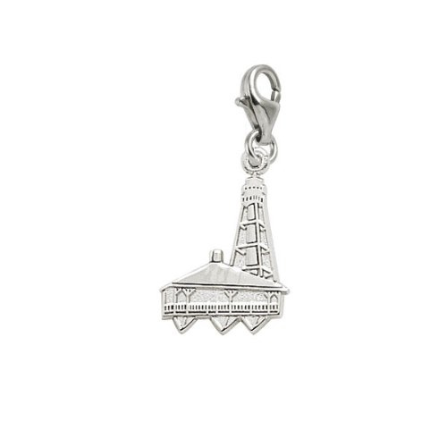Rembrandt Charms Sanibel Island Lighthouse  Florida Charm With Lobster Clasp  Sterling Silver