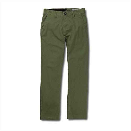 Volcom Big Boys' Frickin Modern Stretch Pant, Squadron Green, 28