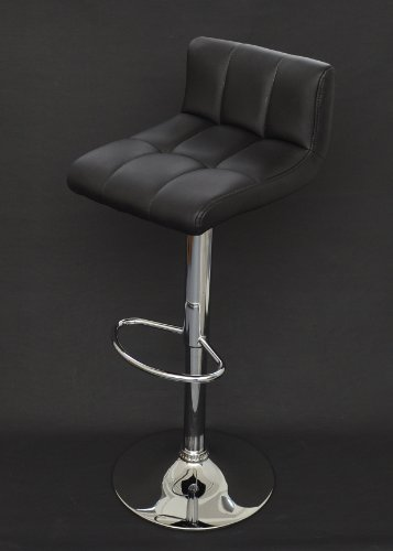 1-x-taburete-de-bar-taburete-alto-con-respaldo-Club-en-negro-con-cromo-D11