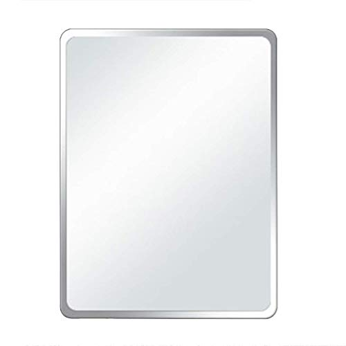 Bathroom mirror Safety Explosion Wall-mounted Frameless Rectangular Hypotenuse Right Angle Fillet (Color : B, Size : 13.717.7in) ()
