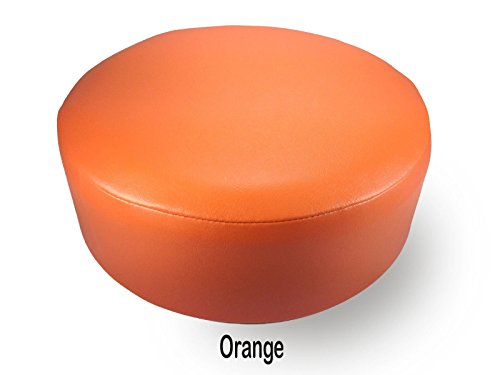 Bar Stool Cover Replacement Staple On Seat Top Made With Heavy Duty Commercial Grade Vinyl (14 inch Diameter, Orange) by Bar Stool Covers 4 less