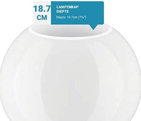 Circunferencia: 39cm 12.5cm di/ámetro globo vidrio blanco pantalla de l/ámpara esf/érica Sin cuello Agujero: 6.0cm dia.Varios tama/ños disponibles.