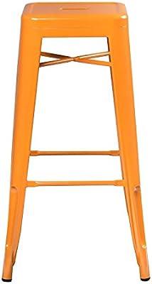 SKLUM Taburete Alto LIX Acero Naranja Azafrán - (Elige Color): Amazon.es: Hogar