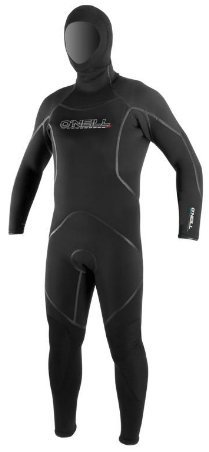 (O'Neill 7mm J-Type FSW with Hood (Black/Graph, XLS))