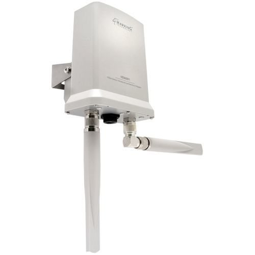(Hawking HOW2R1 Wireless Dual Radio Smart Repeater - 3 x Antenna(s) - 1 x Network (RJ-45) - PoE Ports - Wall Mountable,)