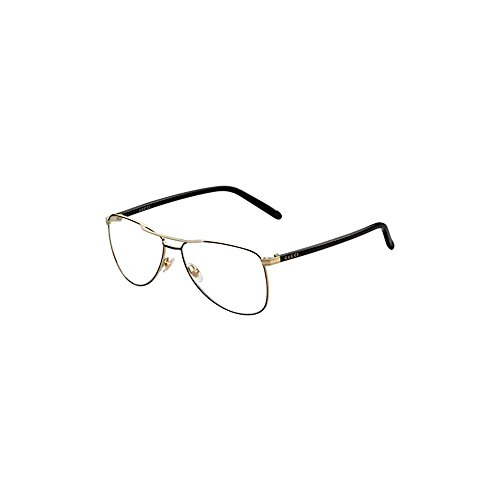 Gucci GG4218 Eyeglasses-0WRU Black Gold-55mm by Gucci