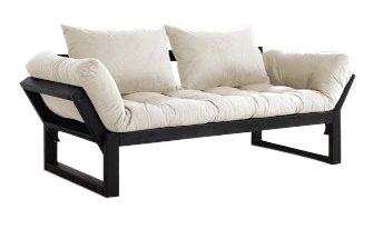 VivereZen - Divano letto futon Edge - Zen Struttura in legno nera + ...