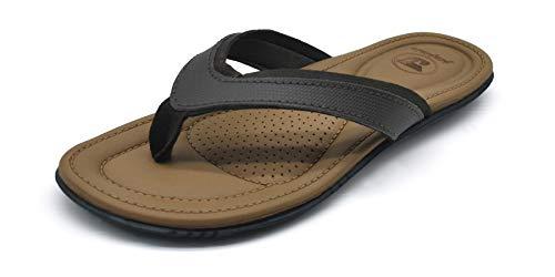 (Flip Flops Women Yoga Foam Cushion Slip on Thong Sandals Non Slip Rubber Sole Khaki)