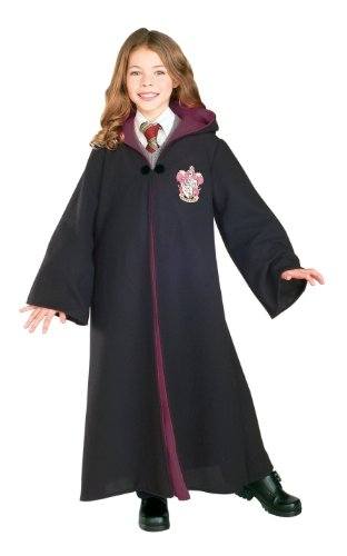 Rubies Costume Deluxe Harry Potter Child's Hermione Granger Costume Robe With Gryffindor Emblem, Medium
