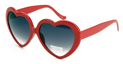 Free S&H Sunglasses - Costume Party Heart Shaped Sunglasses in Black - Ban Ray Sunglasses Colorful