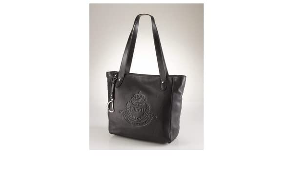 dd625340d6 Amazon.com   Ralph Lauren Putnum Leather Tote Black   Cosmetic Tote Bags    Beauty