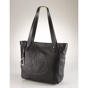 9c75e2ae8c Amazon.com   Ralph Lauren Putnum Leather Tote Black   Cosmetic Tote Bags    Beauty