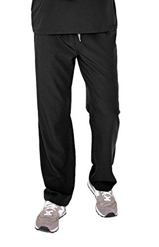 FIGS Medical Scrubs Mens Pisco Basic Scrub Pants (Black, L)