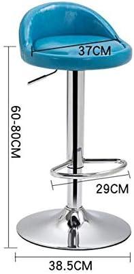 HYL Chaises de Salle à Manger Tabouret Tabouret, Rotation réglable, Linge de Remplissage éponge en Tissu, Installation Facile, 37-52CM Haute Meubles légers (Color : B)