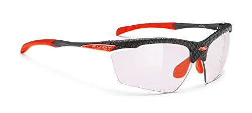 Rudy Project Photochromic - Rudy Project Agon Carbonium with Impactx-2 Photochromic Clear to Laser Red (HDR) Lenses