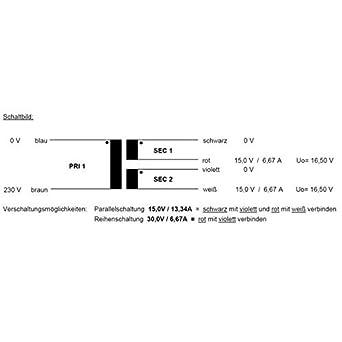 RSO-826041 Transformateur torique 200VA 230V Sedlbauer 2x18V 1x36V