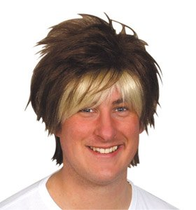 Men's Wigs   Boy Band Brown with Blonde Highlights: Amazon ...