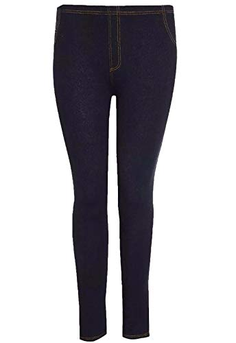 Look Jeans S Leggings Women Full Black Elasticizzato 5xl Islander Fashions length Skinny Donna Jeggings Denim qZB8Iw1