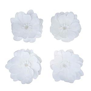 "BalsaCircle 4 12"" Wide Artificial Dahlia Flowers for Wall Backdrop - Wedding Party Craft DIY Decorations Arrangements Centerpieces 83"