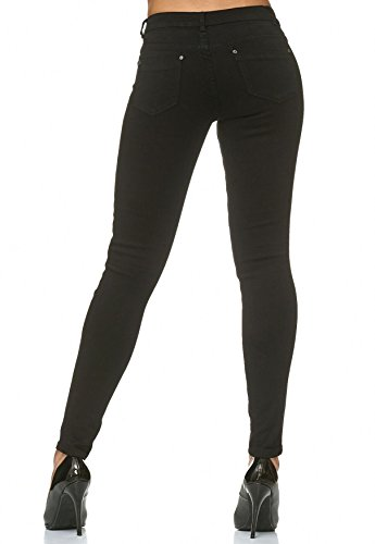 Cuciture Elasticizzato Donna Nero Contrasto Pantaloni Jeans Arizonashopping A Skinny D2225 Ewq5XXzC