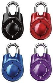 Master Lock 1500iD 6 Pack 2-1/8in. Wide Speed Dial Directional Combination Padlock