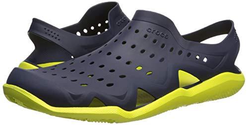 Crocs Men's Swiftwater Wave M Water Shoe Navy/Citrus 4 M US by Crocs (Image #6)