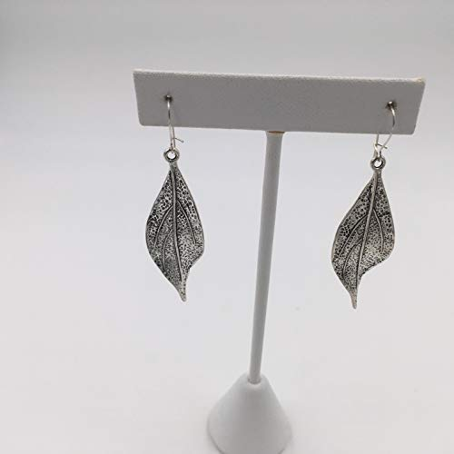 Pewter Leaf Earrings ()