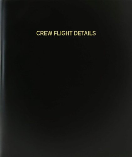 "BookFactory Crew Flight Details Log Book/Journal/Logbook - 120 Page, 8.5""x11"", Black Hardbound (XLog-120-7CS-A-L-Black(Crew Flight Details Log Book))"