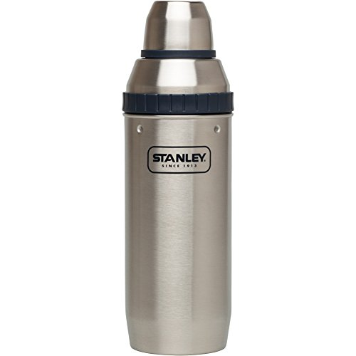 Stanley Happy Hour Shaker and Four Cups, 7 oz, Stainless Steel