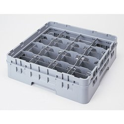 "Cambro 16 Compartment Camrack, CUP 4 1/4"", Gray  Category: W"
