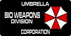 Umbrella Corporation Bio Weapons Photo License - Umbrella Plate License