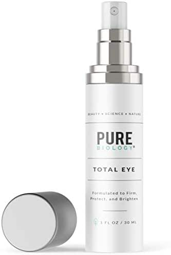 Premium Total Eye Cream Serum with Vitamin C + E, Hyaluronic Acid & Anti Aging Complexes to Reduce Dark Circles, Puffiness, Under Eye Bags, Wrinkles & Fine Lines for Men & Women, 1 OZ