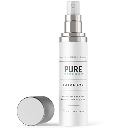 Premium Total Eye Cream Serum with Vitamin C + E, Hyaluronic Acid & Anti Aging Complexes to Reduce Dark Circles, Puffiness, Under Eye Bags, Wrinkles & Fine Lines for Men & Women, 1 OZ (Best Wrinkle Treatment For Men)