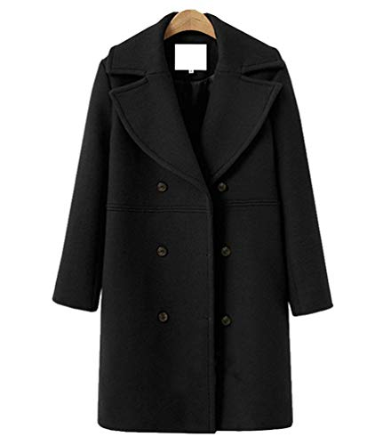 Autunno Schwarz Fit Lunghi Trench Parka Slim Double Battercake Bavero Invernali Lunga Outerwear Donna Donne Casuale Cappotto Windbreaker Monocromo Breasted Manica 92IEWDYH
