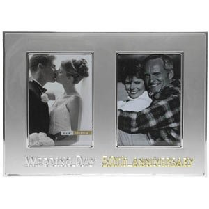 50th Wedding Anniversary Then Now Photo Frame Amazoncouk Toys