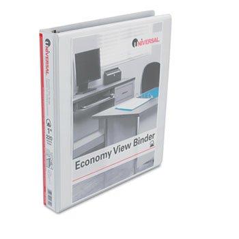 UNV20742 - Universal Economy D-Ring Vinyl View Binder