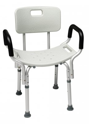 GF Health 7921RA Platinum Collection Bath Seat with Backrest and Arms, Retail Packaging (Pack of 3)