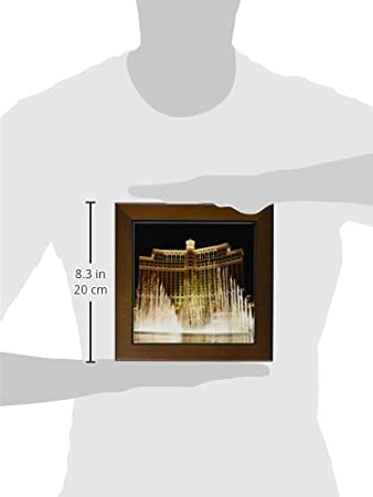 3dRose ft/_4397/_1 Las Vegas Framed Tile 8 by 8-Inch