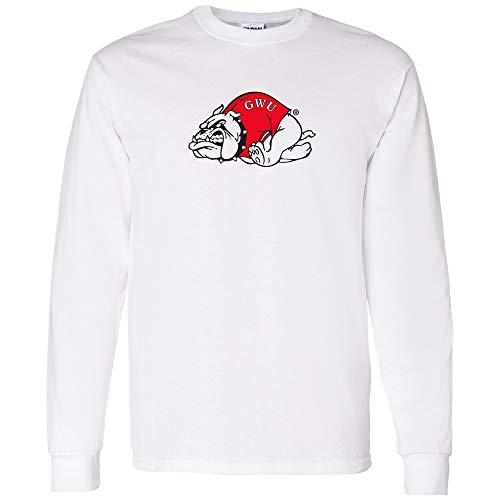 UGP Campus Apparel AL02 - Gardner-Webb Bulldogs Primary Logo Long Sleeve - Medium - White