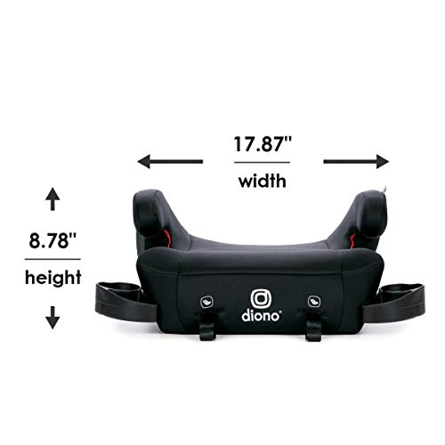 313oo3dbmOL - Diono Solana 2 Latch, XL Space Backless Booster Seat, | Lightweight Backless Booster With Room To Grow, 8 Years 1 Booster Seat, Black