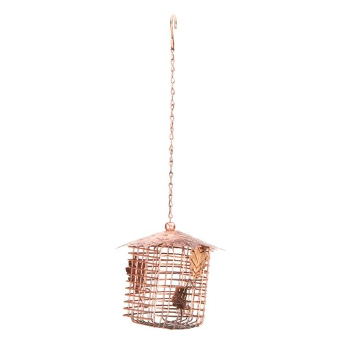 tive Double Suet Basket with Hanging Bird Feeder, Copper Finish ()