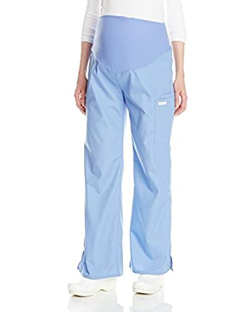 6c952972ff2eb Cherokee Women's Maternity Knit Waist Pull-On Pant, Ceil Blue, X-Small:  Amazon.in: Amazon.in