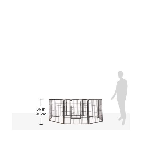 (80cm Inches) – Oxgord Dog Pet Playpen Heavy Duty Metal Exercise Fence Hammigrid 8 Panel 80cm Click on image for further info. 2