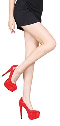 Mujer Guoar Cerrado rojo Rojo Guoar Cerrado OZqxfz4