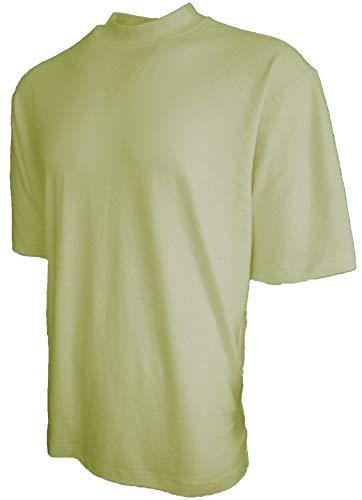 Good Life Brand 100% Cotton Mock Turtleneck Shirt Short Sleeved Pre-Shrunk 4 Colors (Small, Sage)