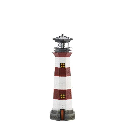 Summerfield Terrace 10018894 Spinning Solar Garden Lighthouse, White