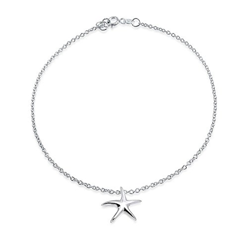 erling Silver Starfish Charm Anklet ()