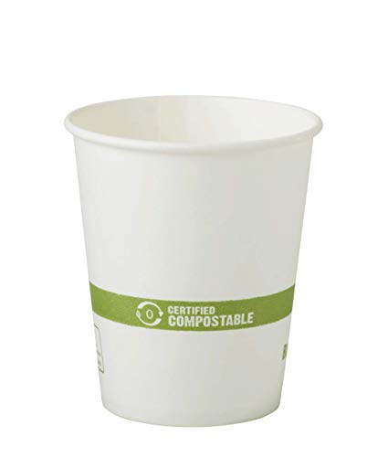 World Centric's Compostable 6 Ounce White - Paper Hot Cup with PLA Lining (Package of 500)