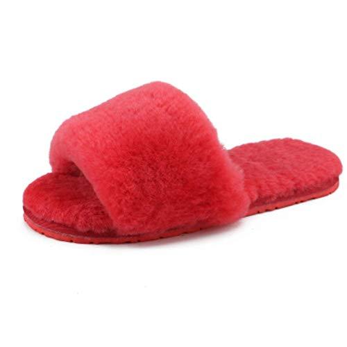 Pecora Pantofole Scivoli Vera 36 b Di Casa Pelliccia Foam Scarpe Flip Indoor Invernali Flop Pelle Lana A Memory Toomd Caldi Femminili Infradito pEvwFOqF4